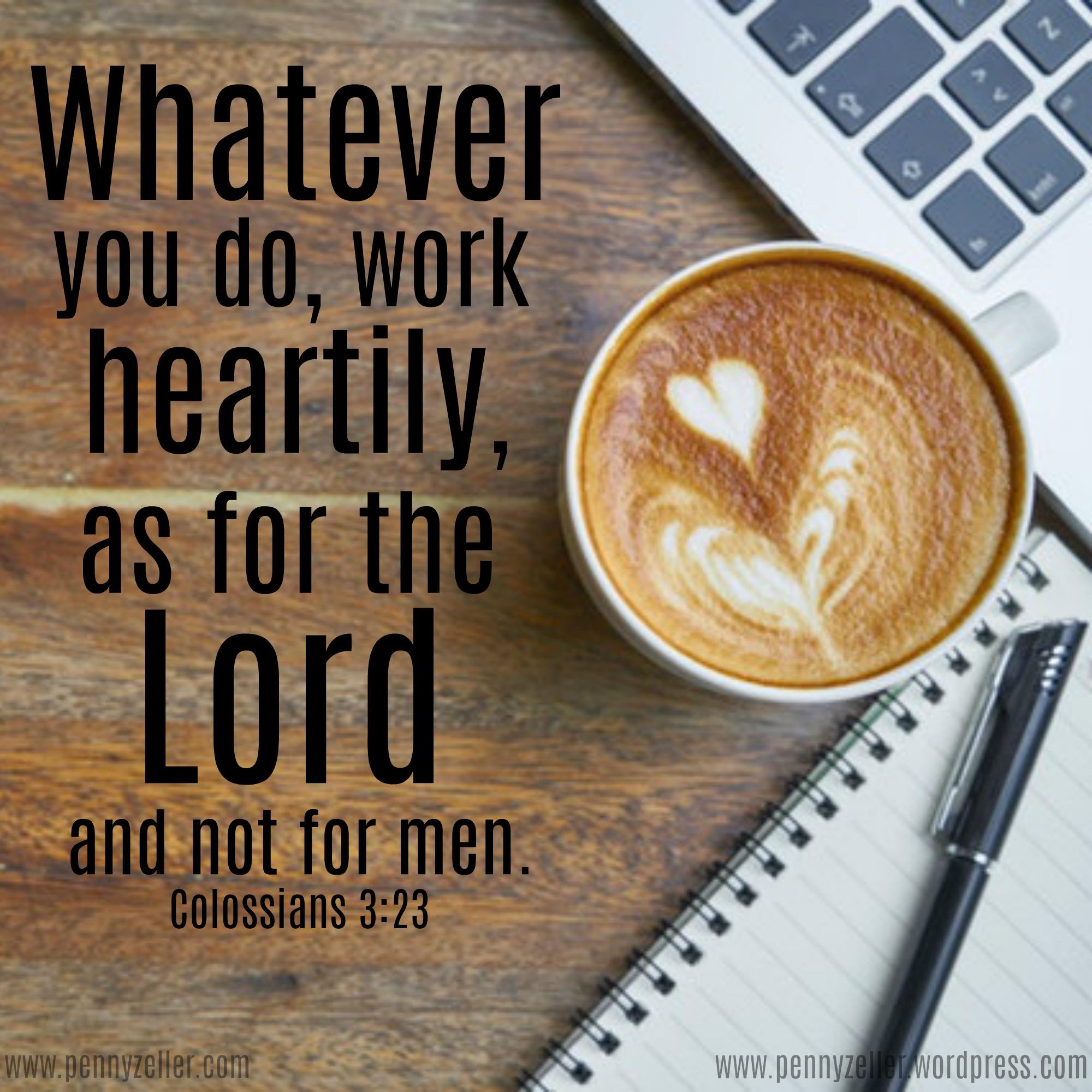 Colossians 3 23