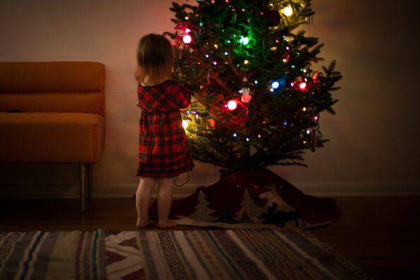 liittle girl at Christmas