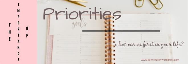 importance of priorities