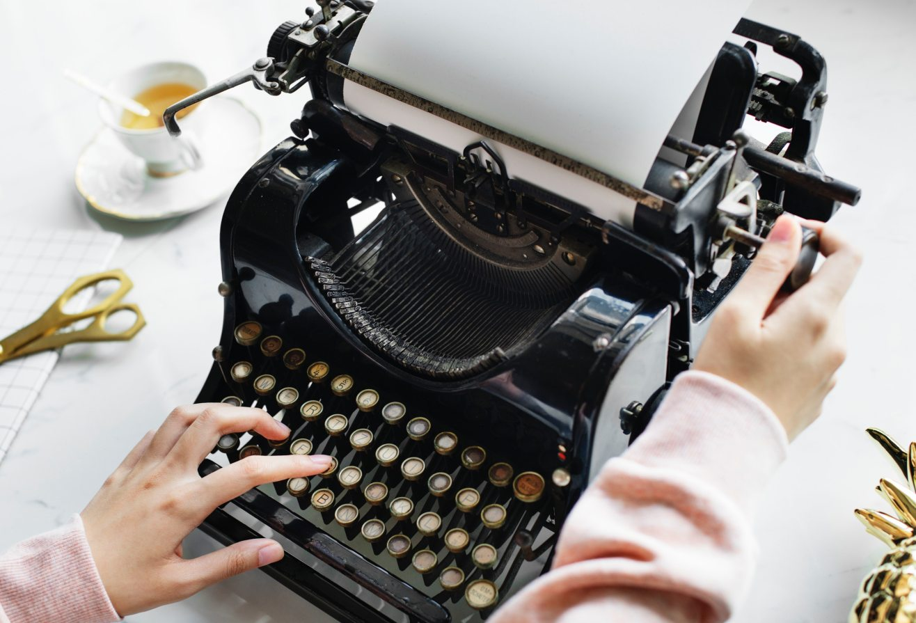 typing on a typewriter.jpg