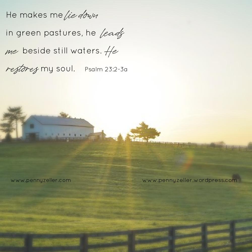 Psalm 23 2-3a