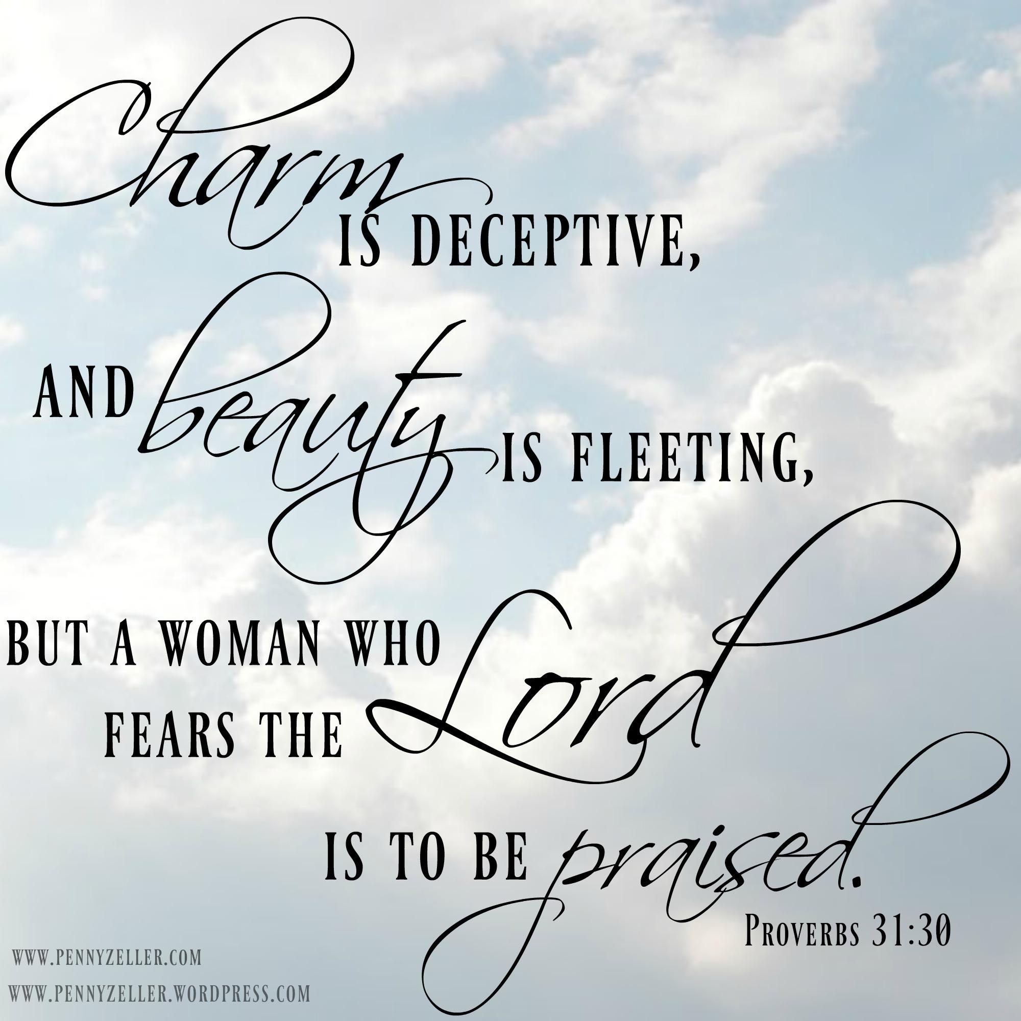 Proverbs 31 30